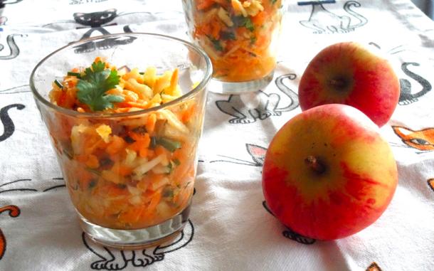 Verrines de carottes et de pommes