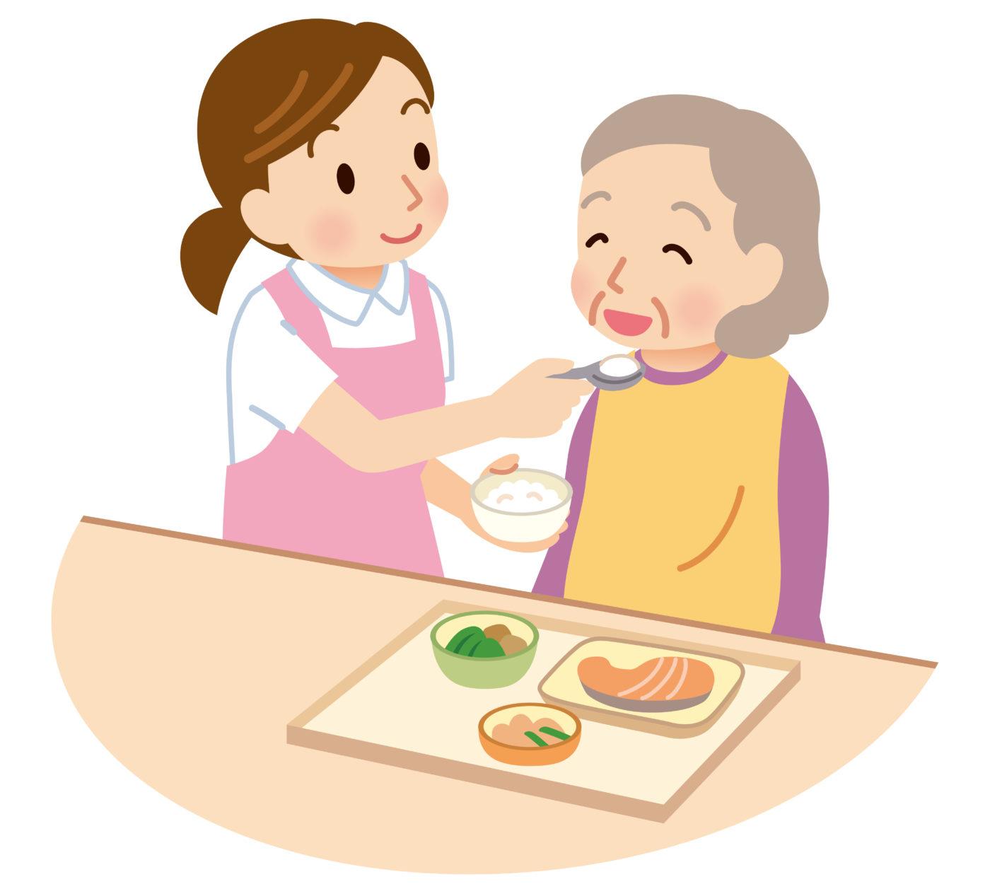 l'infirmière libérale peut aider ses patients lors des repas