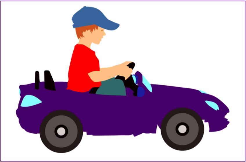 vos enfants au volant de voitures électriques pour se rendre au bloc