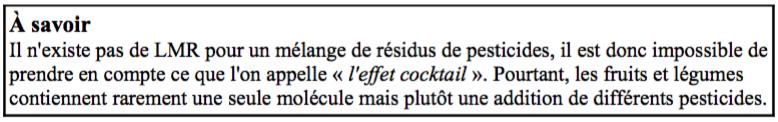 l'effet cocktail dans les pesticides