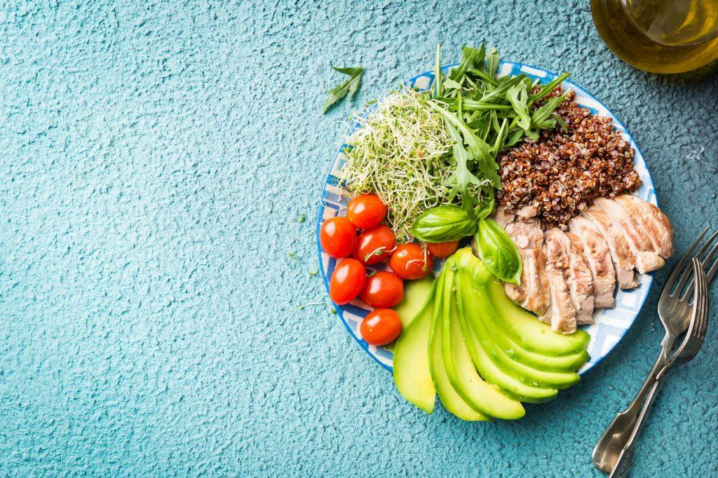 Un déjeuner/dîner équilibré se compose de 5 portions