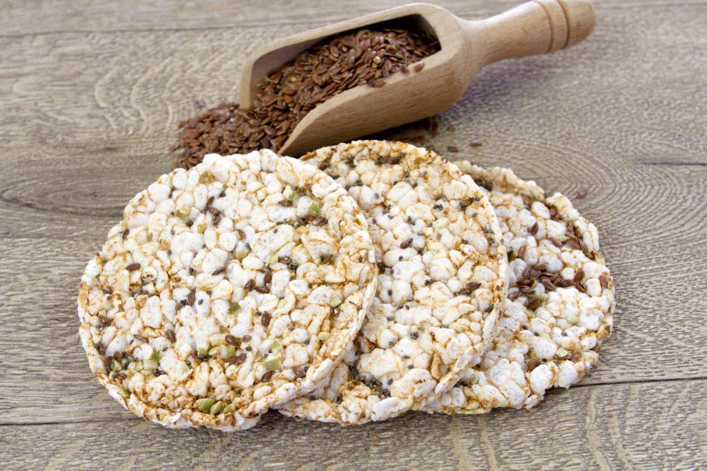 Galettes de riz et graines de lin