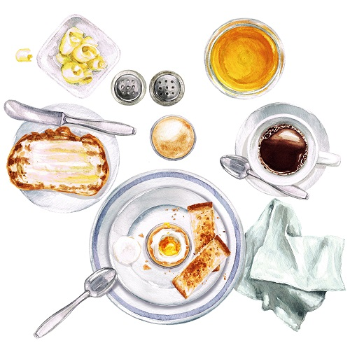 Petit-déjeuner continental à IG bas
