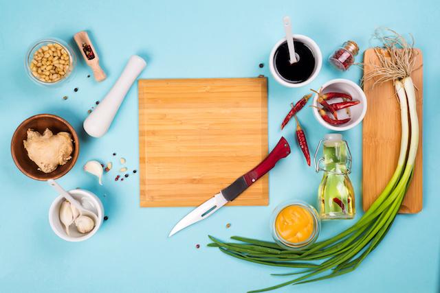 Les ingrédients du kimchi coréen : piment, ail, gingembre...