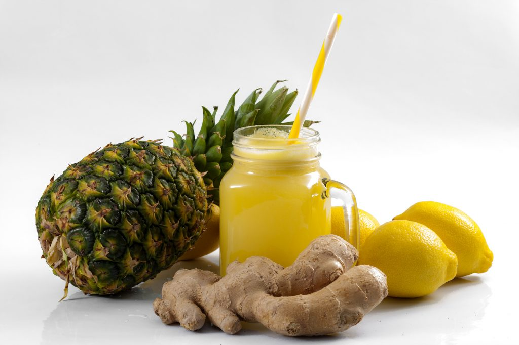 jus ananas-gingembre pauvre en FODMAPs