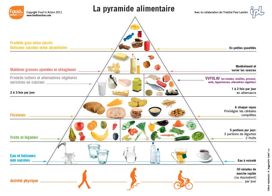 La pyramide alimentaire belge