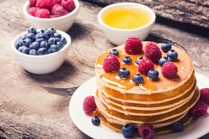 Pancakes à la confiture sans gluten et sans lait