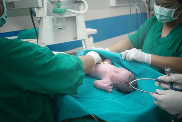 Juste après l'accouchement