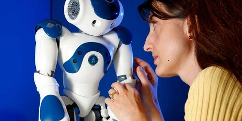 University of Hertfordshire researcher Dr Lola Canamero. Robots with emotions. Photographer Pete stevens