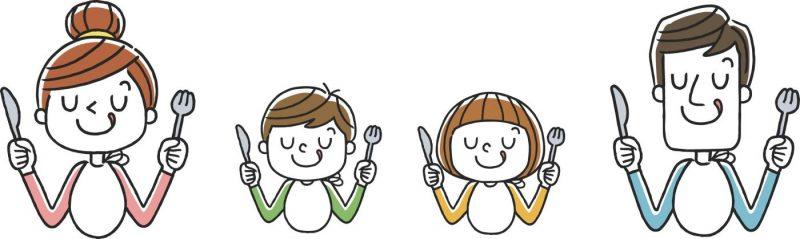 lien entre le repas en famille et l'alimentation des adolescents